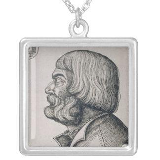 Profile portrait of Albrecht Durer , 1527 Silver Plated Necklace