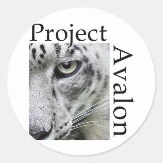 Project Avalon Classic Round Sticker