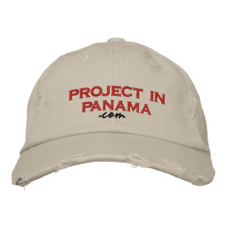 project in panama, .com embroidered hat