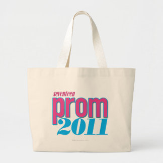 Prom 2011 - Aqua Large Tote Bag