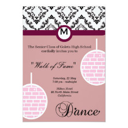 High school prom night invitations announcements zazzle prom night card stopboris Image collections