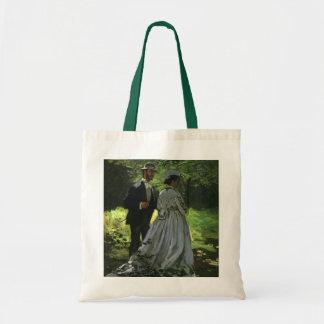 Promenaders by Claude Monet, Vintage Impressionism Tote Bag