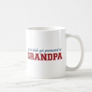Promoted to Grandpa Basic White Mug