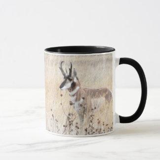 Pronghorn Antelope Buck in Wyoming Field Mug