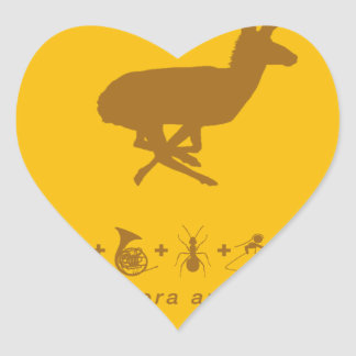 pronghorn yellow and brown.png heart sticker