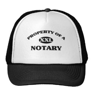 Property of a NOTARY Mesh Hats