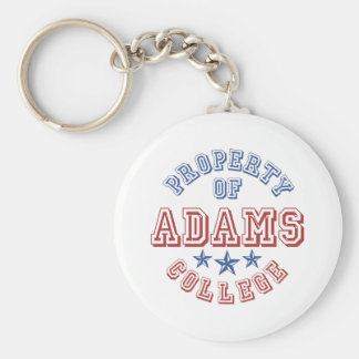 Property Of  Adams College Key Ring
