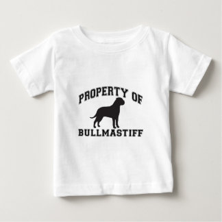 """Property of """"Bullmastiff"""" with silhouette graphic Baby T-Shirt"""