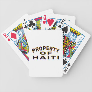 Property Of Haiti Bicycle Playing Cards