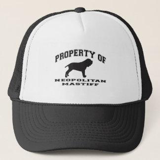 "Property of ""Neopolitan Mastiff"" with graphic Trucker Hat"