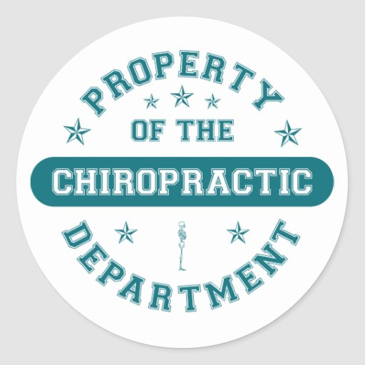 Property of the Chiropractic Department Sticker