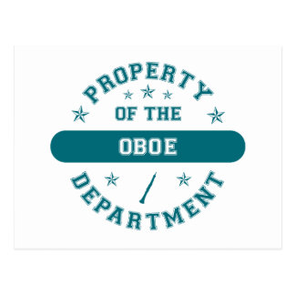 Property of the Oboe Department Postcard