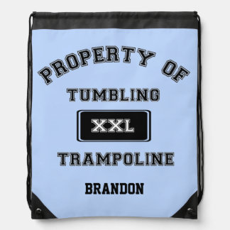 Property of Tumbling and Trampoline sack backpack
