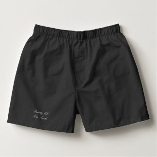 Property Of (Your Custom Text) Boxers