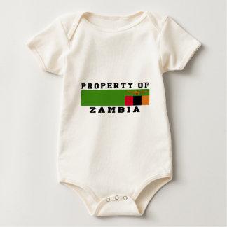 Property Of Zambia Baby Bodysuit