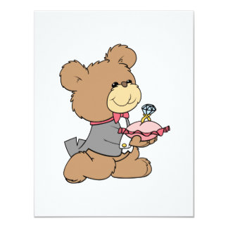 proposal or ring bearer teddy bear design card