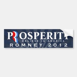 Prosperity, Pro-Romney 2012, Believe in America Bumper Sticker