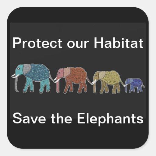 Protect Elephant Habitats Stickers