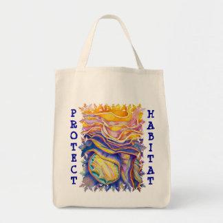 Protect Habitat Organic Grocery Tote Bag