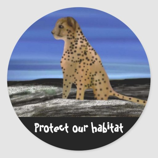 Protect our Cheetah Habitat Stickers