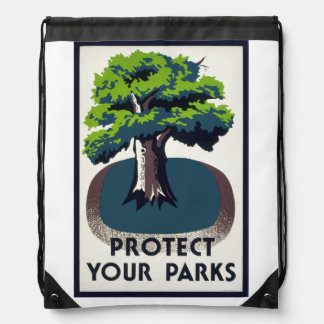 Protect Your Parks Drawstring Bag