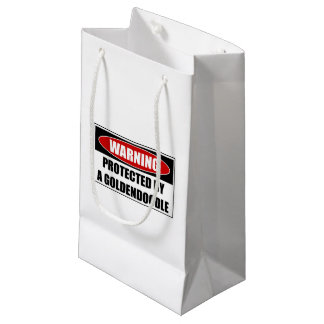 Protected By A Goldendoodle Small Gift Bag
