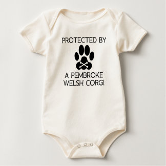 Protected By A Pembroke Welsh Corgi Baby Bodysuit