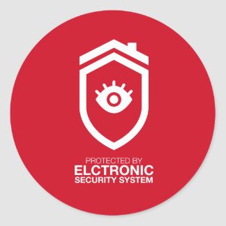 Protected by electronics Security system Classic Round Sticker