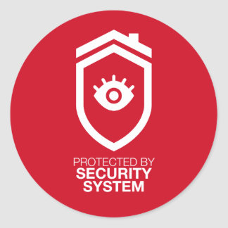 Protected by Security system Classic Round Sticker
