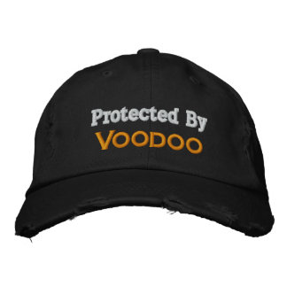 Protected By Voodoo Embroidered Hat