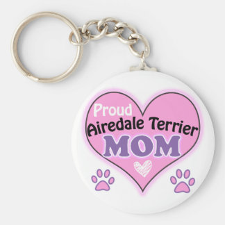Proud Airedale Mom Key Ring