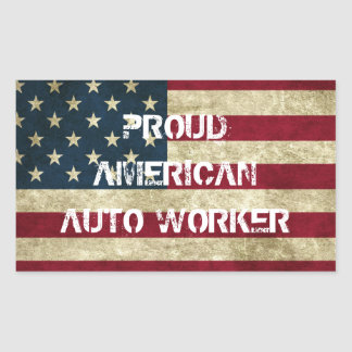 Proud American Auto Worker Sticker
