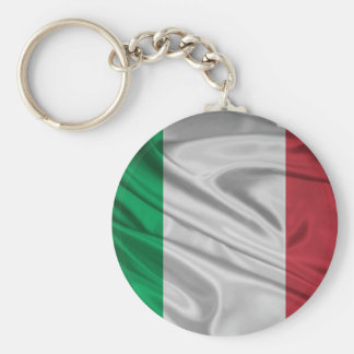 Proud and Patriotic Italian Flag Basic Round Button Key Ring