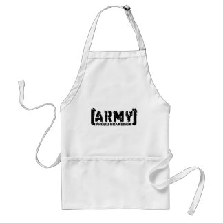 Proud Army Grandson - Tattered Standard Apron