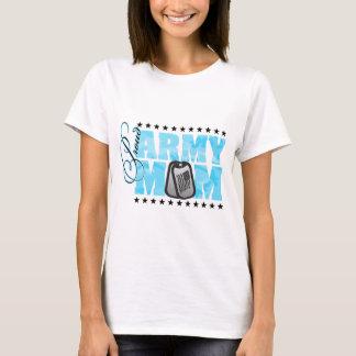 Proud Army Mom Blue Camo T-Shirt