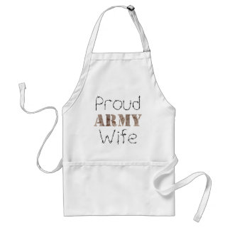 Proud Army Wife Standard Apron