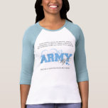 Proud ARMY Wife Tee Shirt