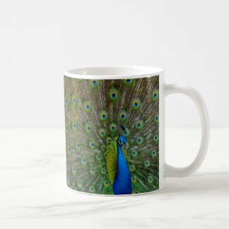 proud as a peacock coffee mug