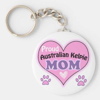 Proud Australian Kelpie Mom Key Ring