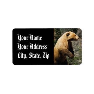 Proud Bear Address Label