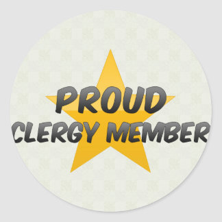 Proud Clergy Member Round Stickers