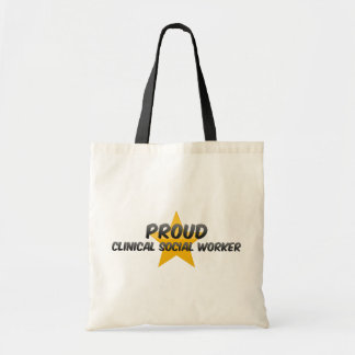 Proud Clinical Social Worker Tote Bag
