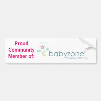 Proud Community Member of Babyzone Car Bumper Sticker