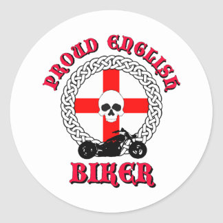 Proud English Biker Classic Round Sticker