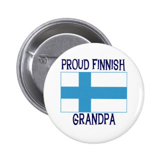 Proud Finnish Grandpa 6 Cm Round Badge
