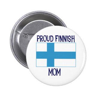 Proud Finnish Mom 6 Cm Round Badge