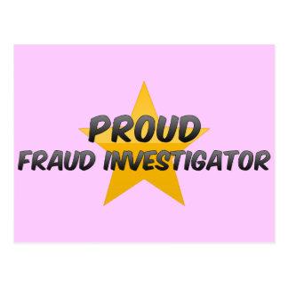 Proud Fraud Investigator Post Card