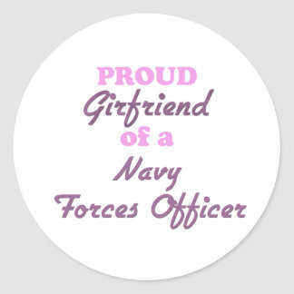 Proud Girlfriend of a Navy Forces Officer Sticker