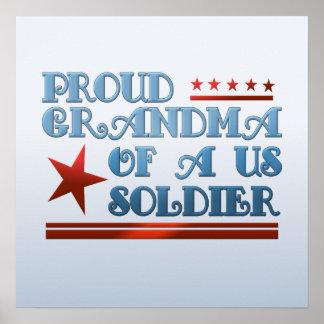 Proud Grandma of a US Soldier Patriotic Military Poster