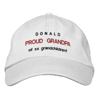 PROUD GRANDPA Adjustable Hat V13 Baseball Cap